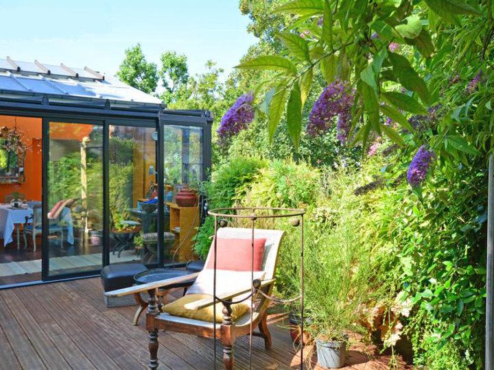 salle de réception à Paris avec jardin